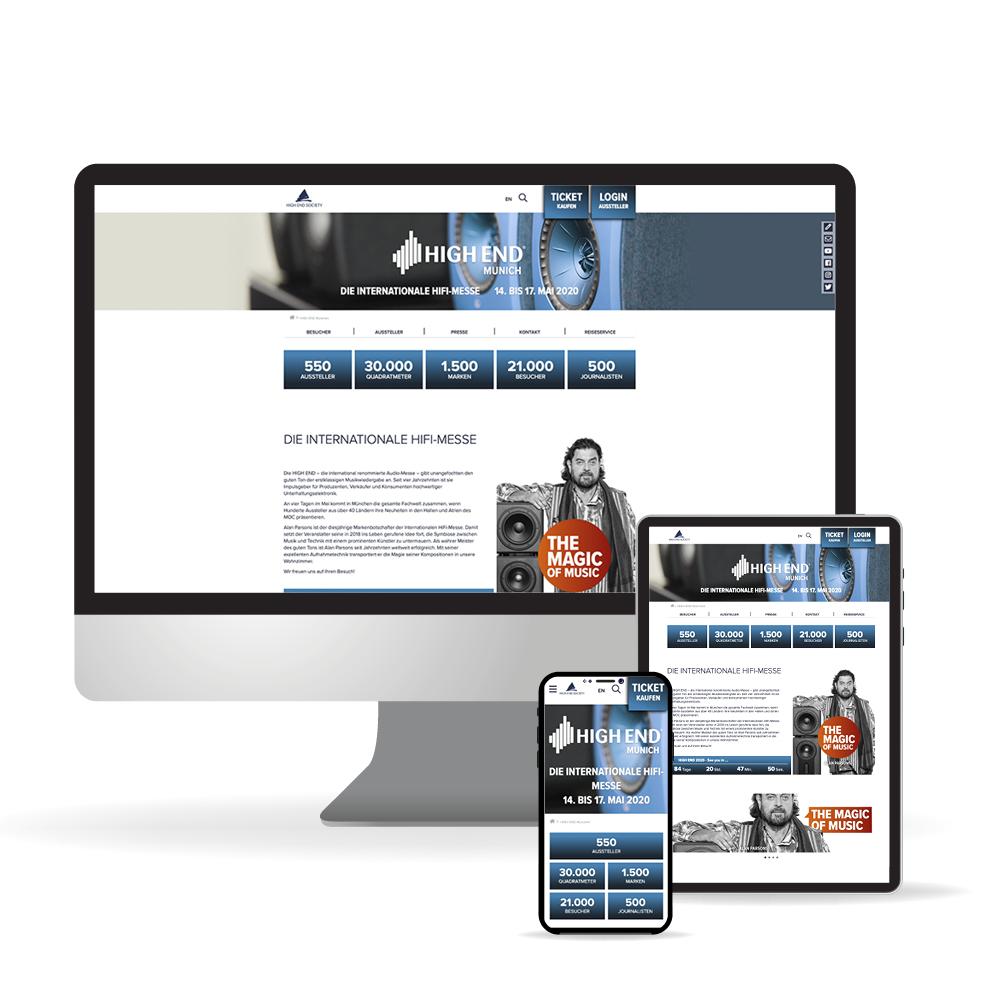 Website der HIGH END Society